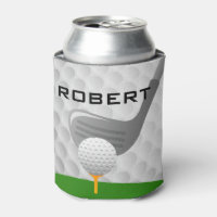 Golfing Design Beverage Bottle Can Cooler