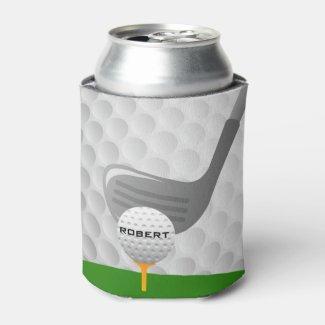 Golfing Design Can Cooler