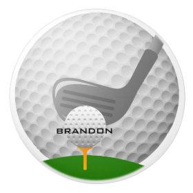 Golfing Design Ceramic Pull or Knob Ceramic Knob