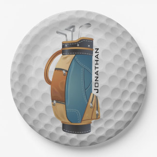 Golfing Design Paper Party Plate