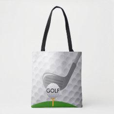 Golfing Design Tote Bag at Zazzle