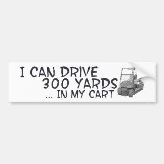 Golfing Drive Car Bumper Sticker