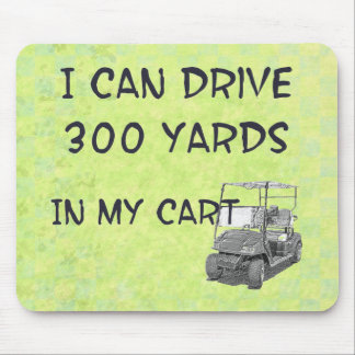 Golfing Drive Mouse Pad