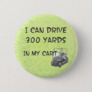Golfing Drive Pinback Button