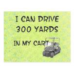 Golfing Drive Post Card