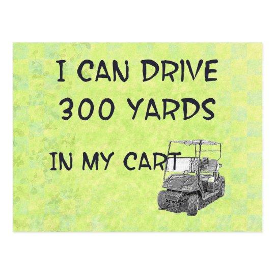 Golfing Drive Postcard