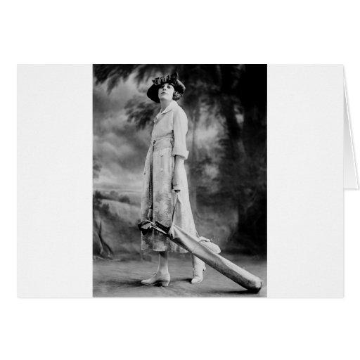 Golfing en estilo, los años 20 tarjeta de felicitación