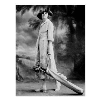 Golfing en estilo los años 20 postales
