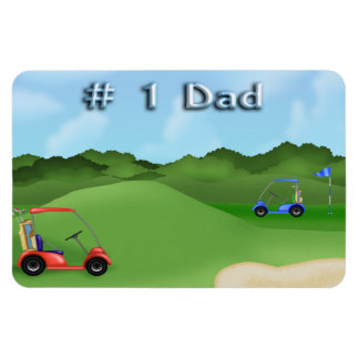 Golfing Father's Day Flexible Magnets