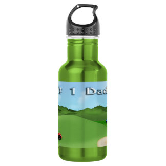 Golfing Father's Day 18oz Water Bottle