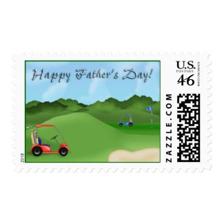 Golfing Father's Day Postage Stamps