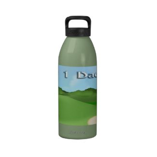Golfing Father's Day Water Bottle