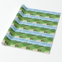 Golfing Father's Day Wrapping Paper