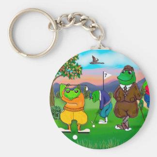 Golfing Frogs - Tournament Keychain