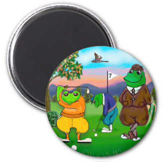 Golfing Frogs - Tournament Magnet