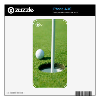 Golfing - Golf Ball by the Hole iPhone 4S Skins