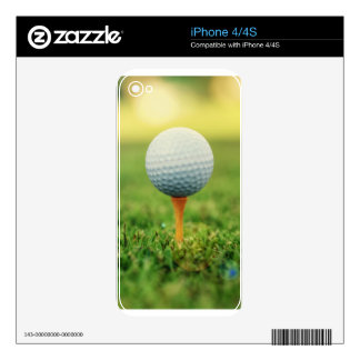 Golfing - Golf Ball on the Tee iPhone 4S Skins