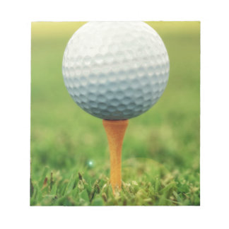 Golfing - Golf Ball on the Tee Notepad