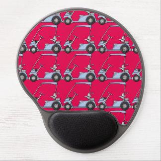 Golfing. Golf car, golf cart. Blue-red Gel Mouse Pad