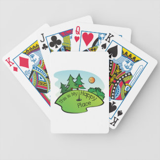 Golfing Golf Course Hole Happy Place Bicycle Playing Cards
