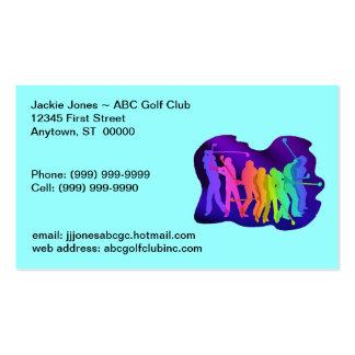 Golfing Golf Golfers Contact Business Cards Card