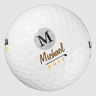 golfing . golfer golf balls