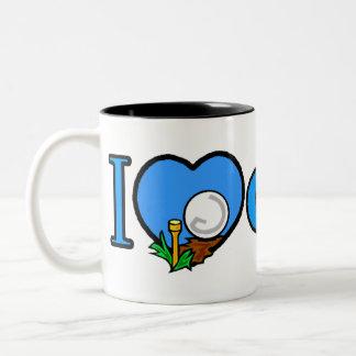 Golfing Golfer Golf Gifts Two-Tone Coffee Mug