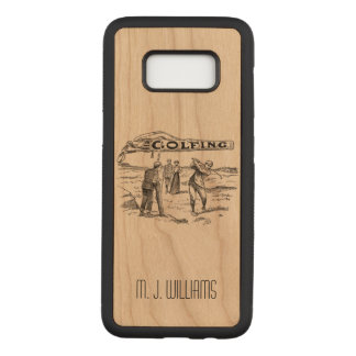 Golfing Golfer Golf Vintage Golf Player Tournament Carved Samsung Galaxy S8 Case