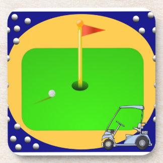 Golfing Green Drink Coaster