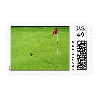 Golfing Green Stamp
