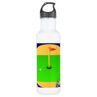 Golfing Green Water Bottle