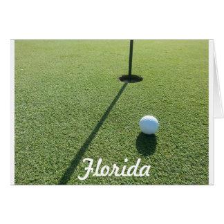 Golfing in Florida Greeting Card