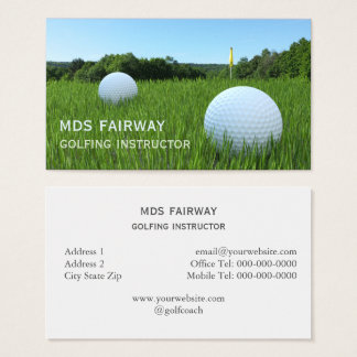 Golfing Instructor Business Card