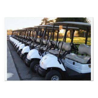 """Golfing Invite 5"""" X 7"""" Invitation Card"""