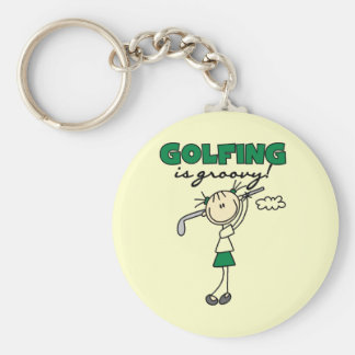 Golfing is Groovy Keychain