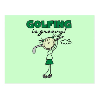 Golfing is Groovy Postcard