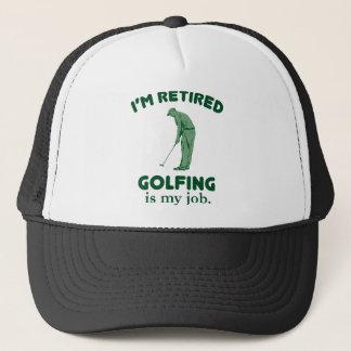 Golfing Is My Job Trucker Hat