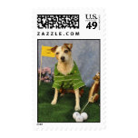 Golfing Jack Russell Postage Stamps