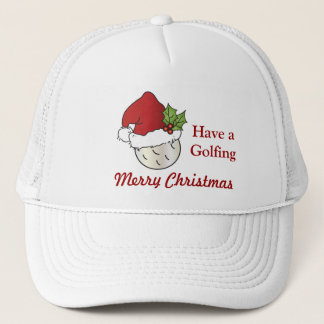 Golfing Merry Christmas Trucker Hat