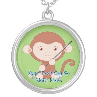 Golfing Monkey Necklace