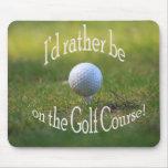 Golfing mousepad