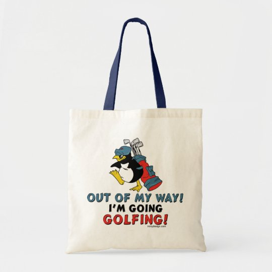 Golfing Penguin Tote Bag