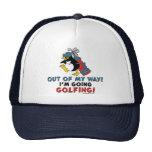Golfing Penguin Trucker Hat