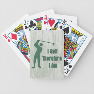 Golfing Philosophy Bicycle Playing Cards