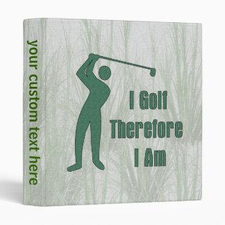 Golfing Philosophy Binder
