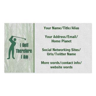 Golfing Philosophy Business Card