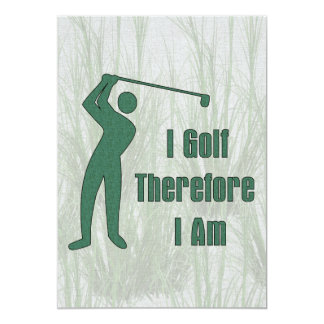 Golfing Philosophy Card