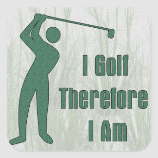 Golfing Philosophy Square Stickers
