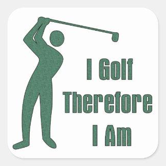 Golfing Philosophy Sticker