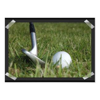 Golfing Photo Invitation